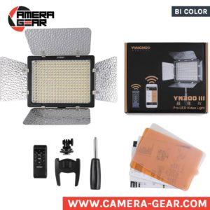 Yongnuo YN300 III 3200-5500K pro led video light. bi-color led panel