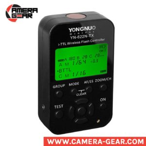 Yongnuo YN622N-TX transmitter acts as a master control unit for the very popular YN622N (II) i-TTL and Manual transceivers, providing more functions and a far more user friendly built-in LCD user interface. With this YN622N-TX flash commander Yongnuo has managed to make the 622 trigger system even more versatile. The YN622 triggers were already known for their excellent performance and great price, and now, with the release of separate YN622N-TX commander this YN622 system is among the best you can buy