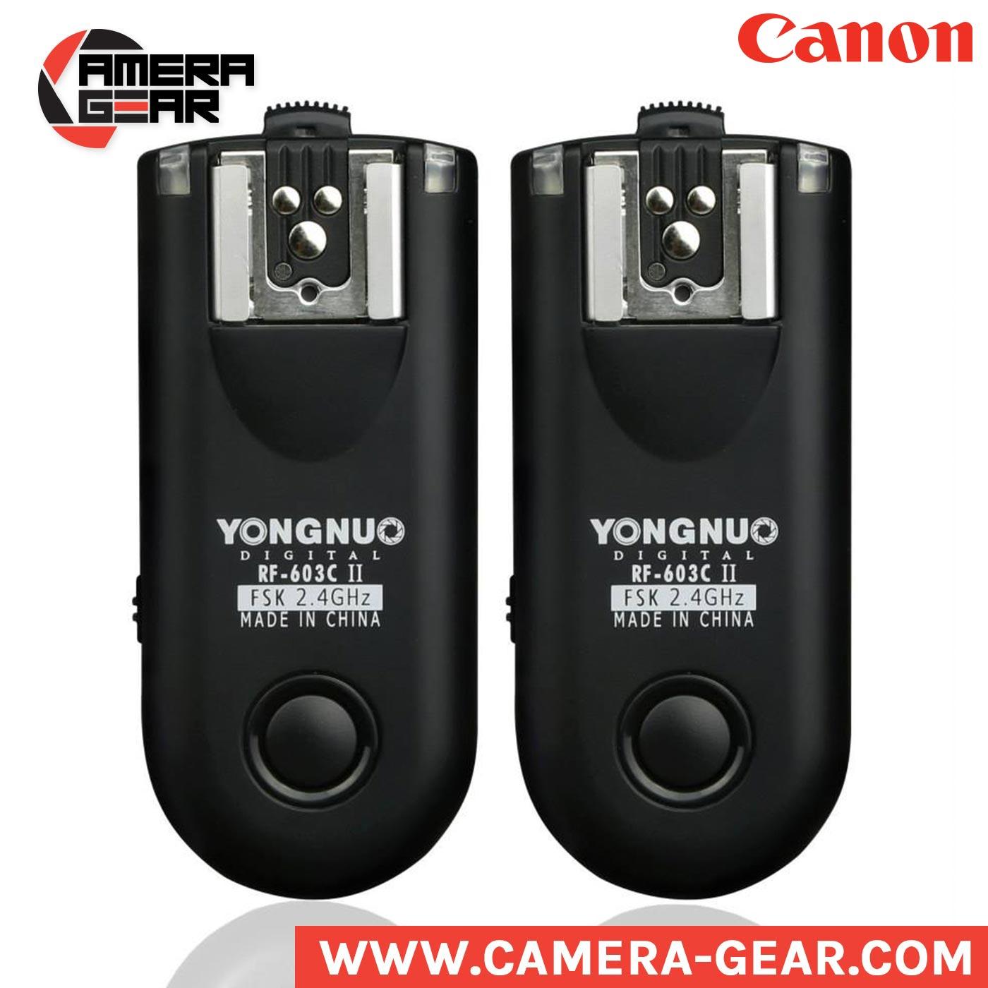 Yongnuo Rf 603c Ii Flash Radio Triggers For Canon