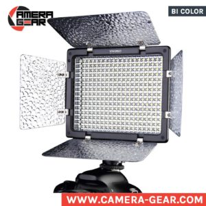 Yongnuo YN300 II 3200-5500K small on camera led light. variable temperature bi-color led panel