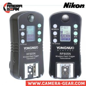 Yongnuo RF-605N triggers. manual transceivers for nikon