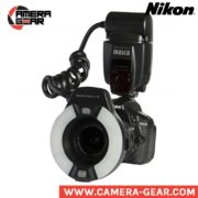 Meike MK-14EXT Macro ring flash for Nikon. On camera macro ttl ring speedlite