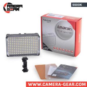 Aputure AL-H160 5500K LED Light. Small on-camera daylight balanced led light