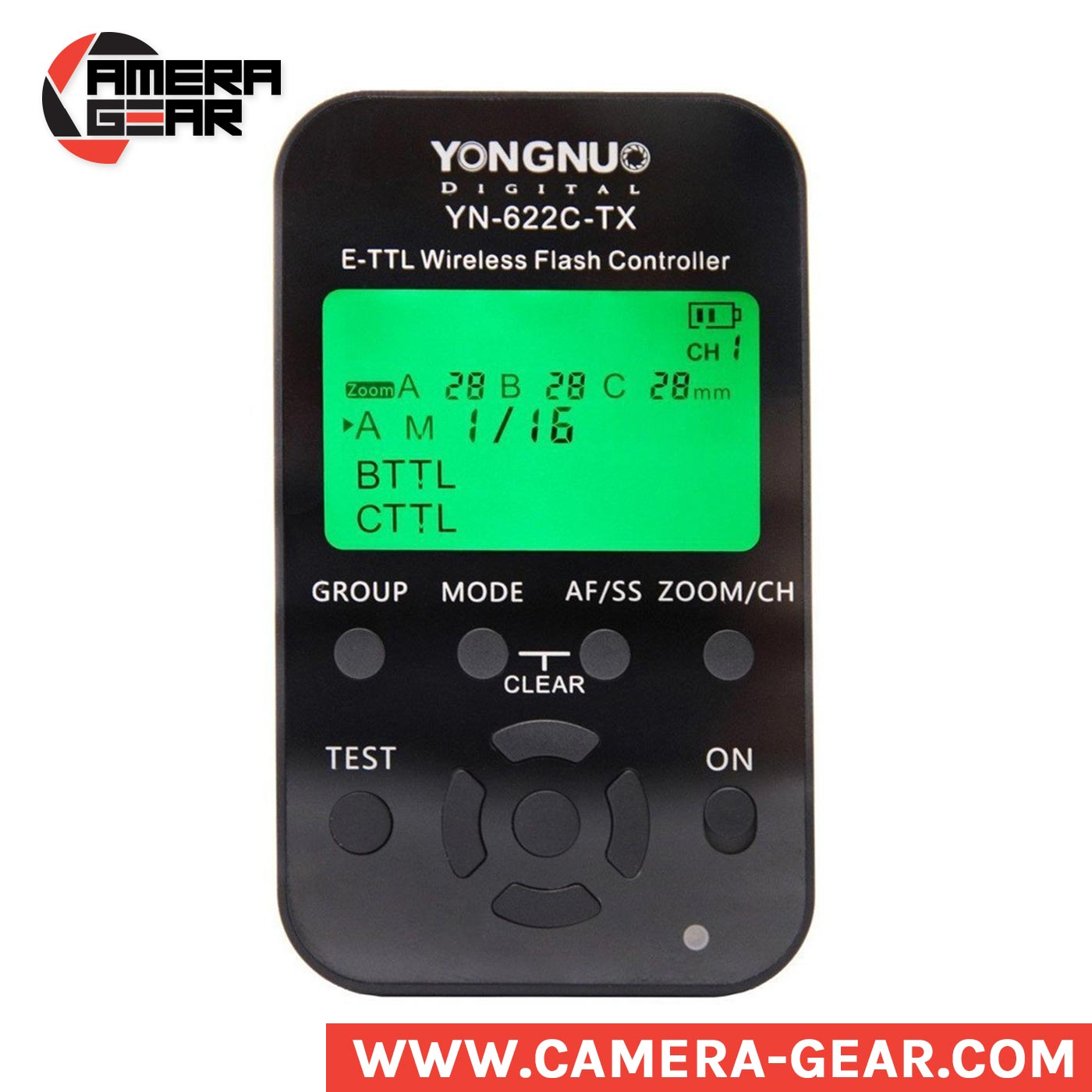 Yongnuo YN622C Kit consists of Yongnuo YN622C-TX commander unit and YN622C receiver unit. This YN622C kit is a great entry to the advanced wireless flash control. Compatible with all Canon E-TTL cameras, the controller slides directly into the hot shoe and utilizes a 2.4 GHz frequency with a range of 100m to trigger the remote flashes. The controller also has e-TTL, manual, and multi flash modes available for full creative control of a flash unit mounted on the YN622C Transceiver. Additionally, the system can utilize 7 channels and 3 groups for setting up multiple flash units easily and efficiently.