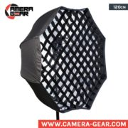 Godox 120cm Octagon umbrella softbox with grid. large octagon with honeycomb grid