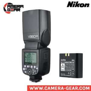 Godox V860II-N Ving li-ion powered speedlite flash with, ttl, hss and built-in trigger.