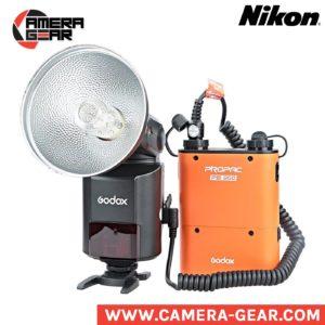 Godox Witstro AD360II-N ttl hss bare bulb flash for Nikon