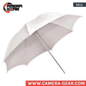 """Translucent White Umbrella 84cm 33"""" for flash speedlite or studio strobe"""